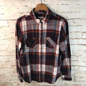 Merona Plaid Button Down Shirt